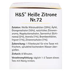 H&S heiße Zitrone Vitaltee Filterbeutel 20 Stück - Linke Seite