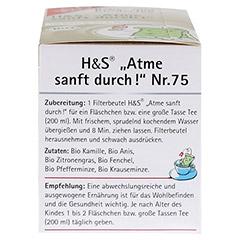 H&S Atme sanft durch Bio Baby- und Kindertee 20 Stück - Linke Seite