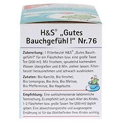 H&S Bio gutes Bauchgefühl Baby- u.Kindertee Fbtl. 20 Stück - Linke Seite