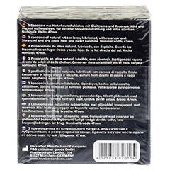 MYSIZE Testpack 47 49 53 Kondome 3x3 Stück - Rückseite