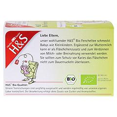 H&S Bio Fencheltee Baby- und Kindertee Filterbeut. 20 Stück - Rückseite