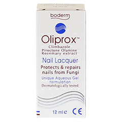 OLIPROX Nagellack bei Pilzbefall 12 Milliliter - Rückseite