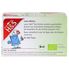 H&S Bio Stilltee Filterbeutel 20 Stück - Rückseite
