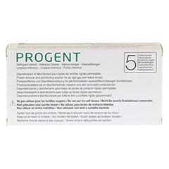 PROGENT Intensivrein.f.formstab.Kontaktlinsen Amp. 5 Stück - Rückseite