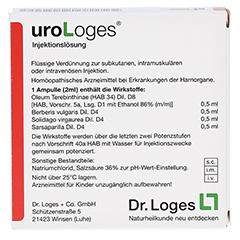 URO LOGES Injektionslösung Ampullen 5x2 Milliliter - Rückseite