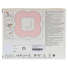 ALLEVYN Life 10,3x10,3 cm Silikonschaumverband 10 Stück - Rückseite