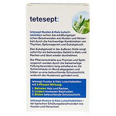TETESEPT Husten & Hals Lutschtabletten 20 Stück - Rückseite