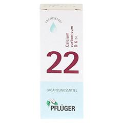 BIOCHEMIE Pflüger 22 Calcium carbonicum D 6 Tropf. 30 Milliliter N1 - Rückseite