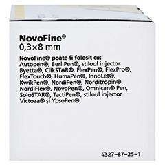 NOVOFINE 8 Kanülen 0,30x8 mm 30 G 100 Stück - Linke Seite