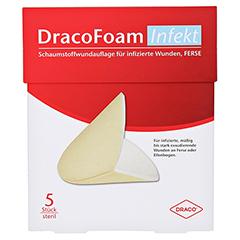 DRACOFOAM Infekt Schaumst.Wundauf.Ferse 5 Stück - Vorderseite
