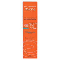 AVENE Cleanance Sonne SPF 50+ Emulsion + gratis Avène After-Sun Gel 50ml 50 Milliliter - Rückseite