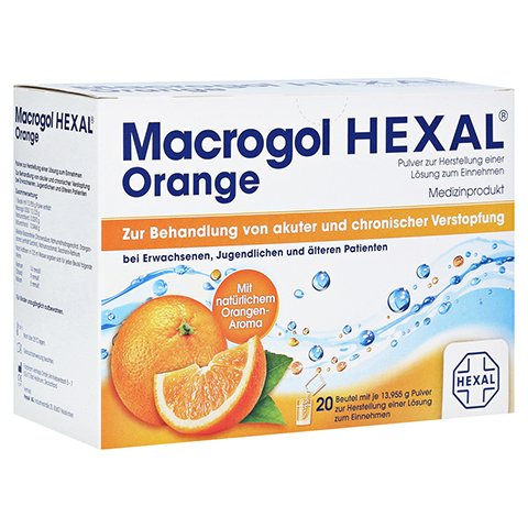 MACROGOL HEXAL Orange Plv.z.Her.e.Lsg.z.Einn.Btl. 20 Stück