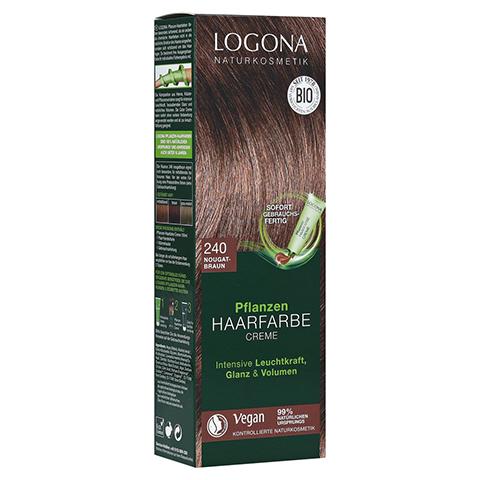 LOGONA Pflanzen Haarfarbe Creme 240 nougatbraun 150 Milliliter