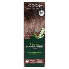 LOGONA Pflanzen Haarfarbe Creme 240 nougatbraun 150 Milliliter - Vorderseite