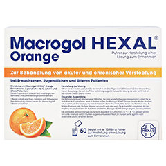 Macrogol Hexal Orange 50 Stück - Rückseite