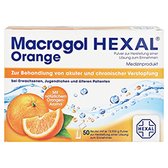 MACROGOL HEXAL Orange Plv.z.Her.e.Lsg.z.Einn.Btl. 50 Stück - Vorderseite
