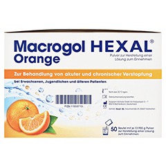 MACROGOL HEXAL Orange Plv.z.Her.e.Lsg.z.Einn.Btl. 100 Stück - Rechte Seite