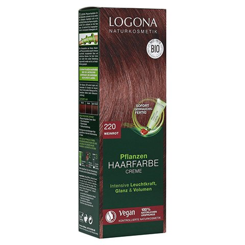 LOGONA Pflanzen Haarfarbe Creme 220 weinrot 150 Milliliter