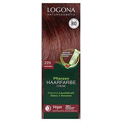 LOGONA Pflanzen Haarfarbe Creme 220 weinrot 150 Milliliter - Vorderseite