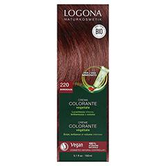 LOGONA Pflanzen Haarfarbe Creme 220 weinrot 150 Milliliter - Rückseite