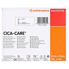 CICA CARE 12x15 cm dünne Silikongelplat.z.Narbenb. 1 Stück - Rückseite