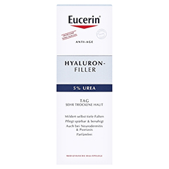 Eucerin Hyaluron-Filler Urea Tagespflege Creme + gratis Eucerin Dermatoclean Mizellen-Reinigung 100ml 50 Milliliter - Vorderseite