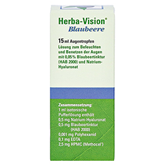 Herba-vision Blaubeere 15 Milliliter - Rückseite
