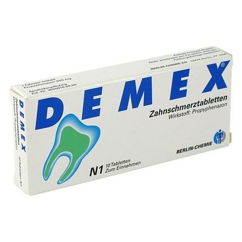 DEMEX Zahnschmerztabletten 10 Stück N1