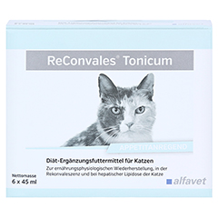 RECONVALES Tonicum für Katzen 6x45 Milliliter - Vorderseite