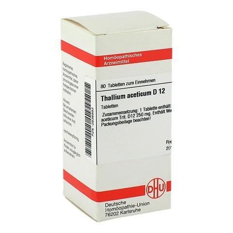THALLIUM ACETICUM D 12 Tabletten 80 St�ck N1