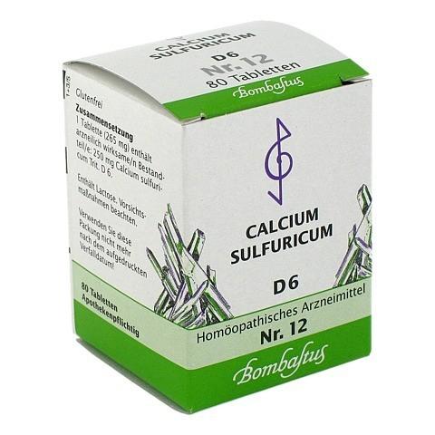 BIOCHEMIE 12 Calcium sulfuricum D 6 Tabletten 80 Stück N1