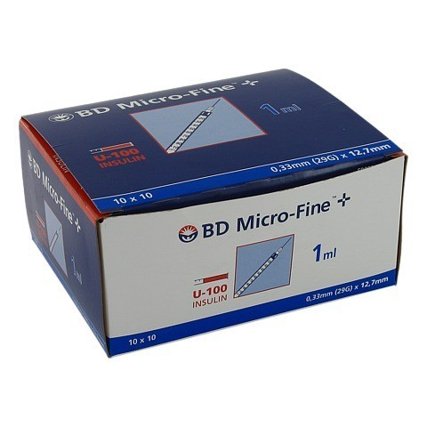 BD MICRO-FINE+ Insulinspr.1 ml U100 12,7 mm 100x1 Milliliter