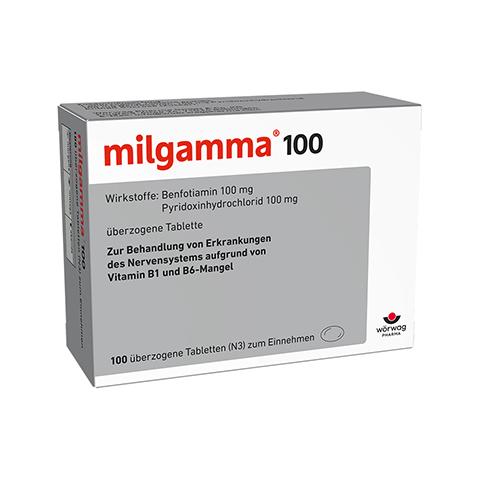 MILGAMMA 100 mg �berzogene Tabletten 100 St�ck N3