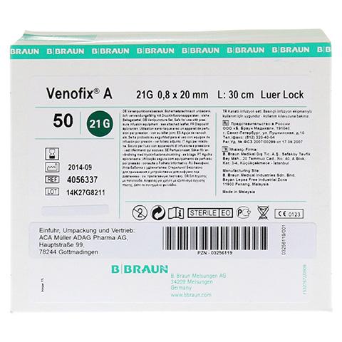 VENOFIX A Venenpunktionsbest.21 G 0,8 mm gr�n 50 St�ck