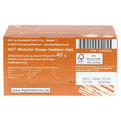 H&S Wintertee Orange-Sanddorn-Zimt Filterbeutel 20 Stück - Unterseite
