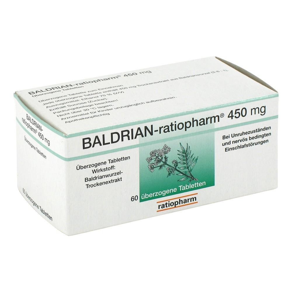 baldrian ratiopharm 450 mg berzogene tabletten 60 st ck. Black Bedroom Furniture Sets. Home Design Ideas