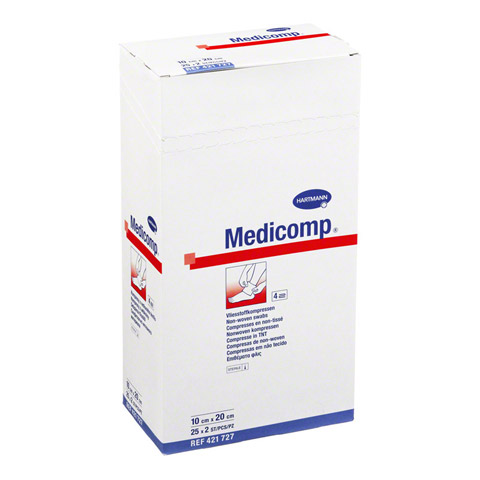 MEDICOMP Kompressen 10x20 cm steril 25x2 Stück