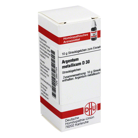 ARGENTUM METALLICUM D 30 Globuli 10 Gramm N1