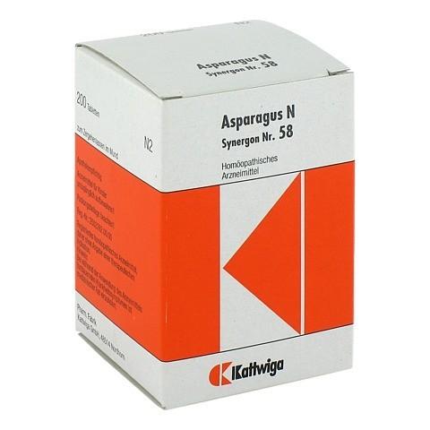 SYNERGON KOMPLEX 58 Asparagus N Tabletten 200 Stück