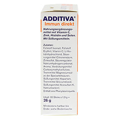 ADDITIVA Immun direkt Sticks 20 St�ck - Linke Seite