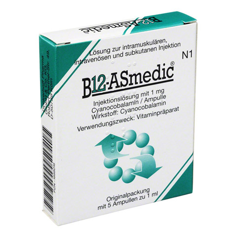 B12 Asmedic Ampullen 5x1 Milliliter N1