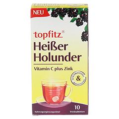 TOPFITZ heißer Holunder Trinktabletten 10 Stück - Vorderseite