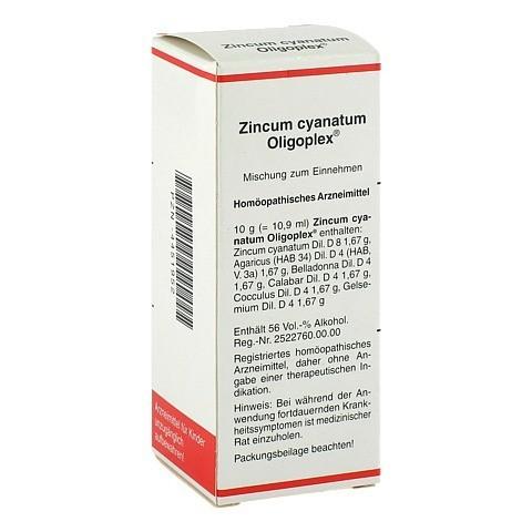 ZINCUM CYANATUM OLIPOPLEX Liquidum 50 Milliliter N1
