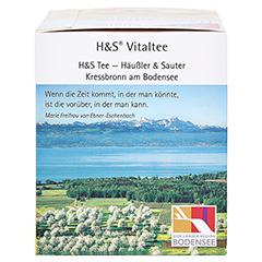 H&S heiße Zitrone Vitaltee Filterbeutel 20 Stück - Rechte Seite