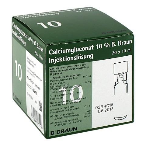 CALCIUMGLUCONAT 10% MPC Injektionslösung 20x10 Milliliter N3