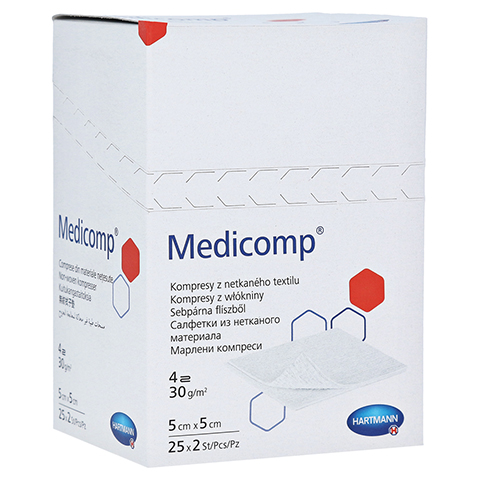 MEDICOMP Kompressen 5x5 cm steril 25x2 Stück