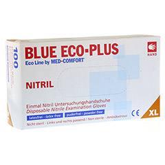 HANDSCHUHE Einmal Nitril XL blau 100 Stück