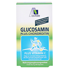 GLUCOSAMIN 750 mg+Chondroitin 100 mg Kapseln 90 Stück - Vorderseite