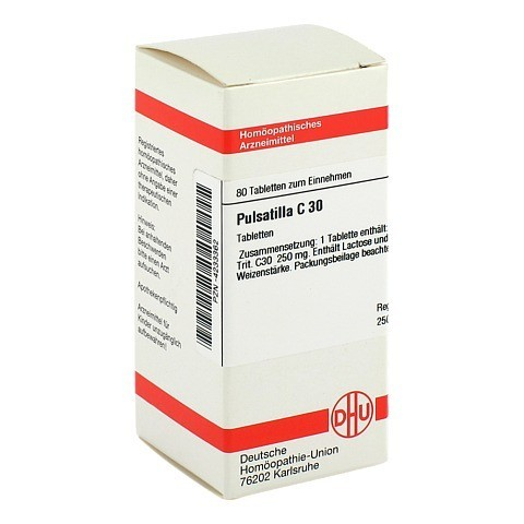 PULSATILLA C 30 Tabletten 80 Stück