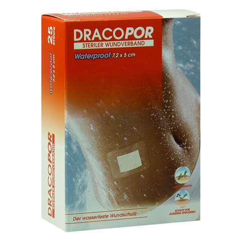 DRACOPOR waterproof Wundverband 5x7,2 cm steril 25 Stück